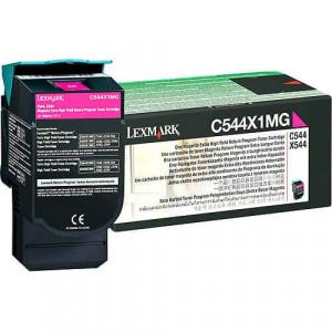 Toner Original C544dn Magenta / Vermelho – C544X1MG Lexmark